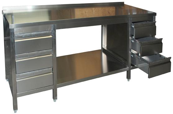 arbeitstisch 1200 2900x800x850 mit 2 schubladenbl cke. Black Bedroom Furniture Sets. Home Design Ideas