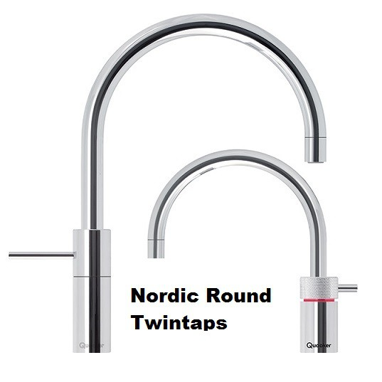 Quooker Nordic Round Twintaps Nordic Square Twintaps + CUBE