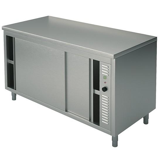 Premium Edelstahl Wärmeschrank mit Schiebetüren OA