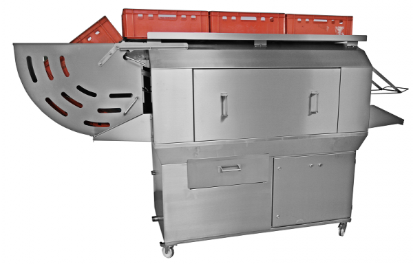 Kistenwaschanlage 100 Euronorm Kisten pro Std Kistenspülmaschine
