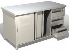 ECO 1400x700x850 Arbeitsschrank m. Schubladenblock