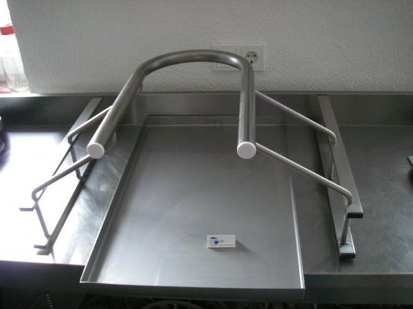 Wildgestell Wildgehänge Edelstahl GN2/1 für Kühlschrank