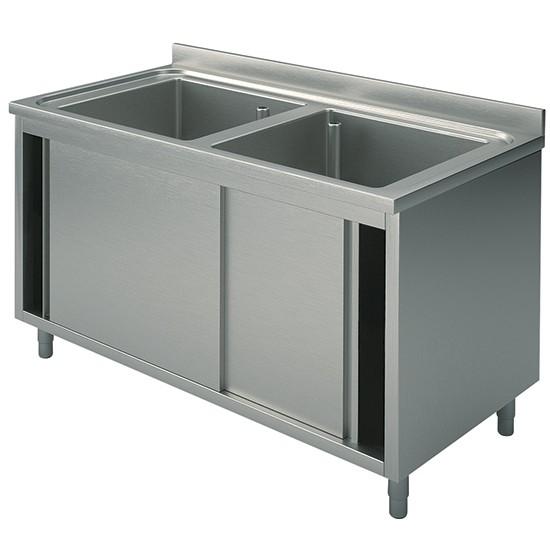 Premium Spülschrank 1000-1600x700x850 2 Becken