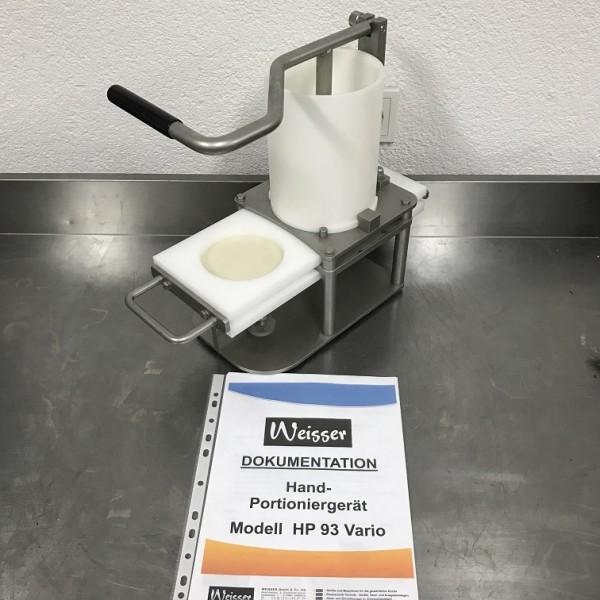 Weisser HP93 Vario Hand- Portioniergerät Hamburgerformer