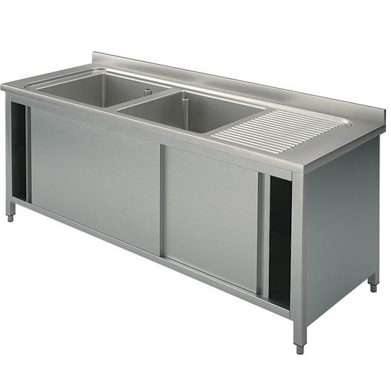 Premium Spülschrank 1400-2000x700x850 2 Becken