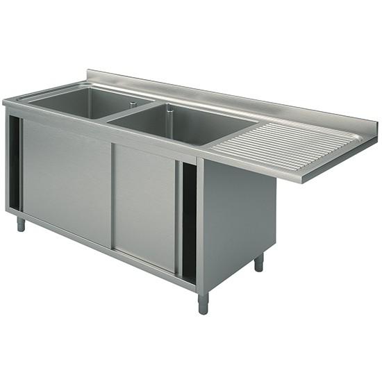 Premium Spülcenterschrank 1600-2000x700x850 m.Schiebetüren