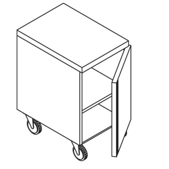 Edelstahlschrank Mit Flugelturen Auf Radern 400 1000x600x850 Fahrbare Schranke 600 Tief Arbeitsschranke Edelstahlmobel Kuchenausstattung Ausstattung Statt Nahrungsmittelmaschinen