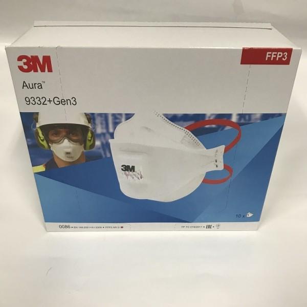 10x 3M Aura 9332+GEN3 Atemschutzmaske Feinstaubmaske Staubmaske FFP3