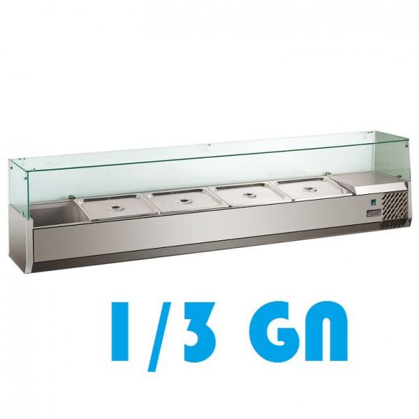 Kühlaufsatzvitrine 1/3 GN 1200mm Glasaufsatz