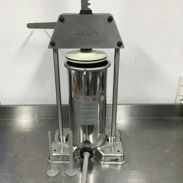 Dick TWF-12 Liter Wurstfüller Edelstahl gebraucht TWF12