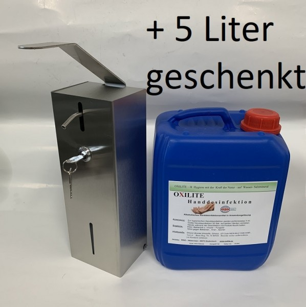 1 Liter Edelstahl Desinfektionsmittelspender Seifenspender abschließbar